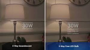 3 way cree led bulb comparison youtube