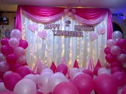 decor birthday party hall decoration pictures artistic color