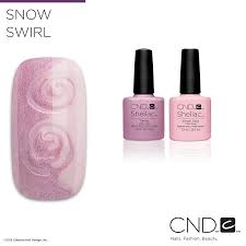 nail pros learn how to create this snow swirl nail design with