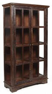 reclaimed wood curio cabinet 82 h large display curio cabinet sun rustic finish solid reclaimed