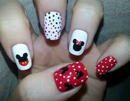 nail art mickey u0026 minnie mouse nail design youtube