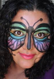 Colorful Halloween Makeup by Breaking Down Beauty Halloween Makeup Butterfly Mask Painted Ladies