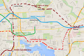 Metro Redline Map Red Line Comeback City