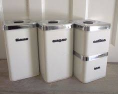 fashioned kitchen canisters white enamelware canister set set of four add a vintage