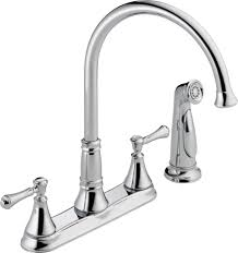 delta faucet 2497lf cz cassidy two handle kitchen faucet with