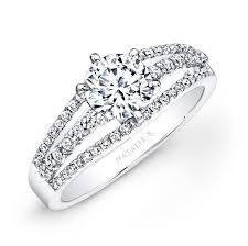 white diamonds rings images White gold split shank pave white diamond engagement ring jpg