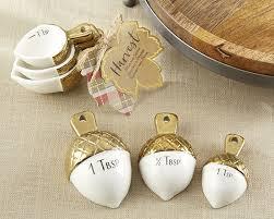 gold dipped gold dipped ceramic acorn measuring spoons