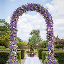 Wedding Arches To Purchase Amazon Com Adorox 7 5 Ft Lightweight White Metal Arch Wedding