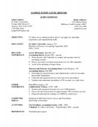 Sample Resume For Accounting Position by Awesome To Do Entry Level Resume Examples 5 Example Of Resume