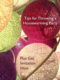 tips for throwing a housewarming party invitation ideas