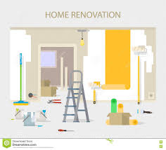 home interior vector room repair in home interior renovation in apartment and house