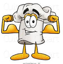 cuisine clipart cuisine clipart of a chefs hat mascot character flexing his