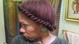natural two strand flat twist tutorial youtube