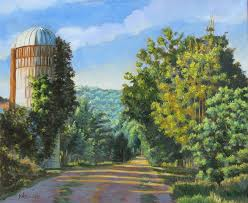 Vermont landscapes images A walk in vermont path silo oil painting landscapes painting jpg