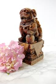 fu dog bookends carved foo dog vintage foo dog bookend antique foo lion