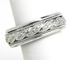 mens white gold diamond wedding bands men s 14k white gold swirl diamonds wedding band ring bright