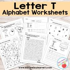 letter t worksheets alphabet series easy peasy learners