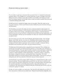 sample of marketing letters to business restaurant business proposal sample 1 728 jpg cb u003d1300096716