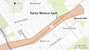 houston fault map earthquake fault maps for beverly santa and other