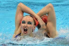 Synchronized Swimming Meme - synchronized swimming faces are terrifyingly hilarious swim