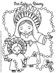 mary coloring pages catholic kids religious education free
