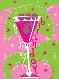 birthday margarita pinkshoesart cocktail glass birthday card