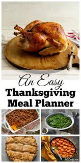 a thanksgiving menu planner to begin today 31 daily
