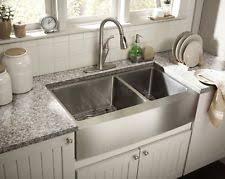 stainless farmhouse kitchen sink stainless farmhouse kitchen sink ebay