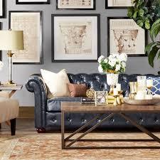 Best Blue Leather Sofa Images On Pinterest Blue Leather Sofa - Leather sofa interior design