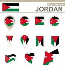 Flag Jordan Jordan Flag Collection U2014 Stock Vector Boldg 61912975