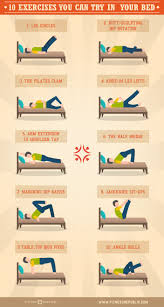 Is It Good To Exercise Before Bed 10 Exercises You Can Do In Bed Exercises Workout And Yoga