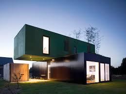 Eco Friendly House by Eco Friendly Crossbox House By Cg Architectes