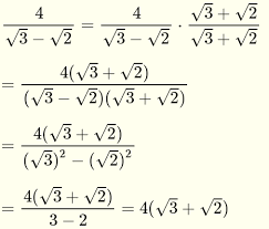 rationalize denominators of radical expressions questions with