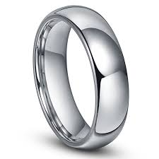 ring size mens 6mm tungsten men s plain dome polished wedding band ring size 4 16
