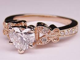 Rose Gold Wedding Rings by Engagement Ring Heart Shape Fair Rose Gold Wedding Rings Wedding