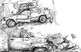animated wrecked car cleopatra graphics