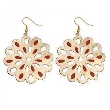 dangler earring swan flower shaped dangler earring in gold and for women from