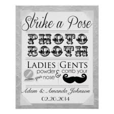wedding photo booth sign posters zazzle