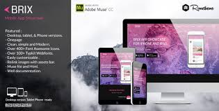 adobe muse mobile templates brix mobile app landing page muse template redirect choose