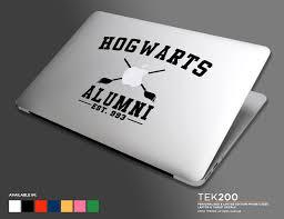 hogwarts alumni bumper sticker hogwarts collegiate style logo macbook sticker harry potter die