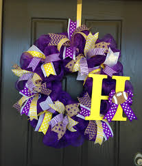 lsu tigers decomesh wreath football poly deco mesh creations