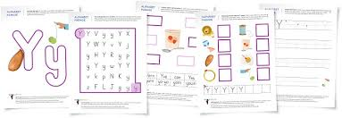 alphabet parade letter y worksheets and activity suggestions