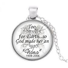 personalized remembrance jewelry personalized remembrance necklace angel in heaven