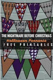disney halloween decorations halloween pennants the nightmare before christmas party