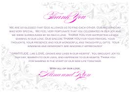 Thank You Letter Notes Samples wedding thank you money gift sample bernit bridal