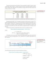 Ordinary Annuity Table Time Value Of Money Intermediate Accounting 15th Edition