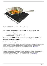 Portable Induction Cooktops Reviews Frigidaire Fgic13 14 Portable Induction Cooktop Review 2 728 Jpg Cb U003d1349926203