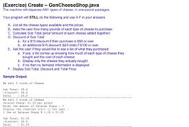 dispense java solved help with these java codes shown on eclips