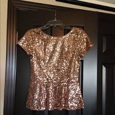 gold blouse plus size gold sequin peplum top nwot m from laurie s closet on poshmark