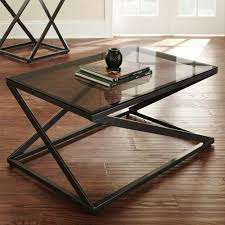 furniture best glass topped coffee table with metal base hand